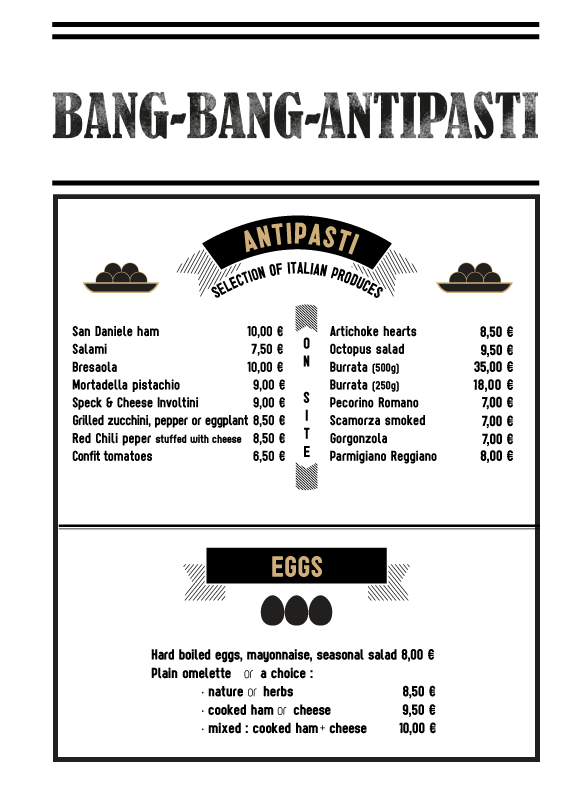 Antipasti restaurant Megeve
