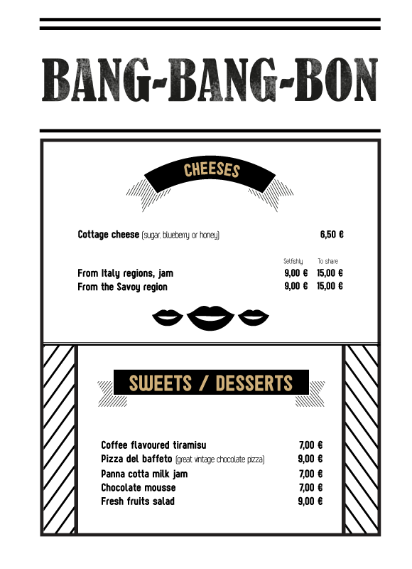 Dessert and cheese