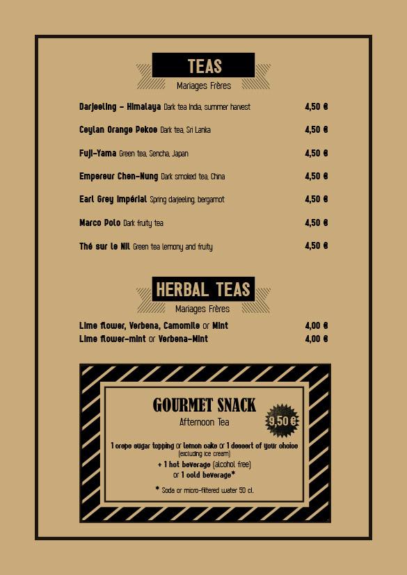 Spaggiari Megève - Hot beverages
